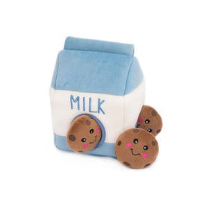 Milk and Cookies Burrow Dog Toy