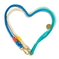 Adjustable Ombré Cotton Rope Dog Leash