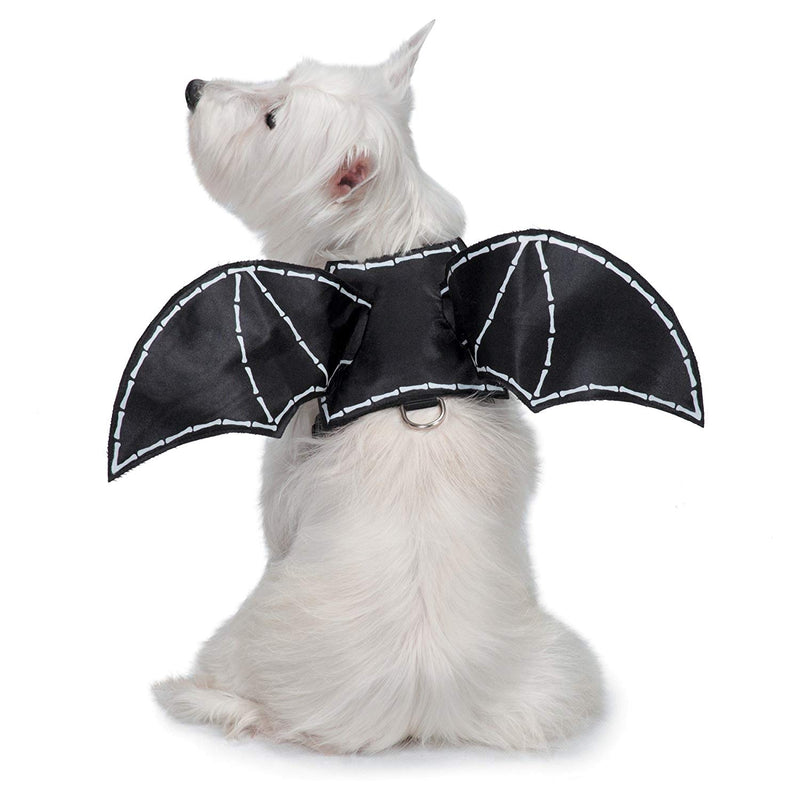 Glow-In-The-Dark Bat Wings Harness Dog Costume