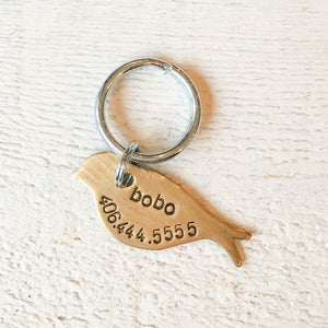 Birdie Engravable Pet Tag