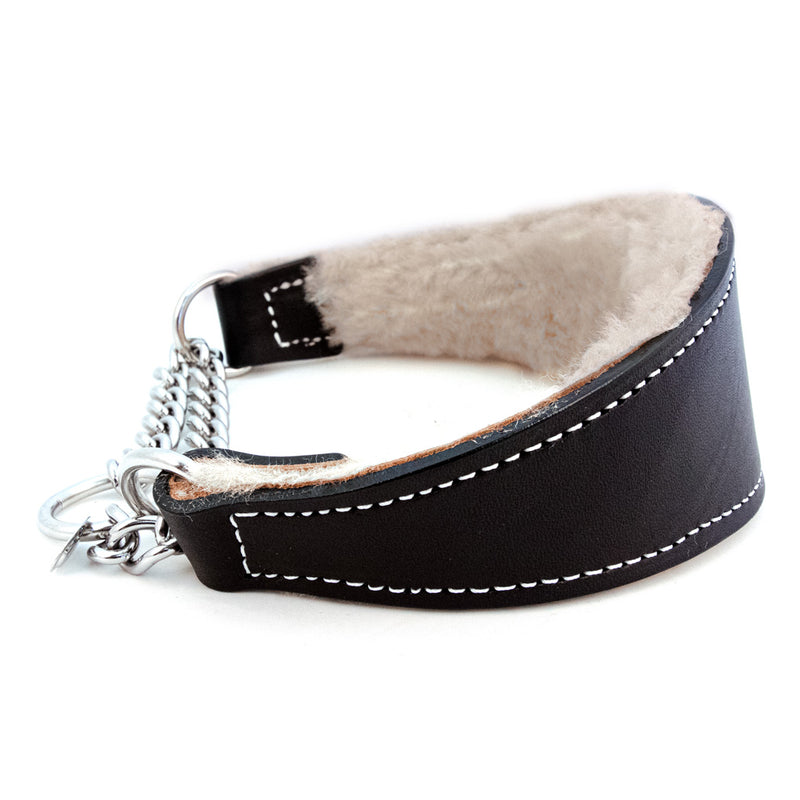 Fur and Leather Martingale Dog Collar - Muttropolis