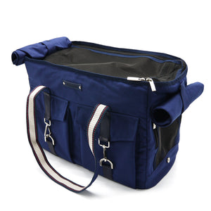 Navy Buckle Tote Pet Carrier