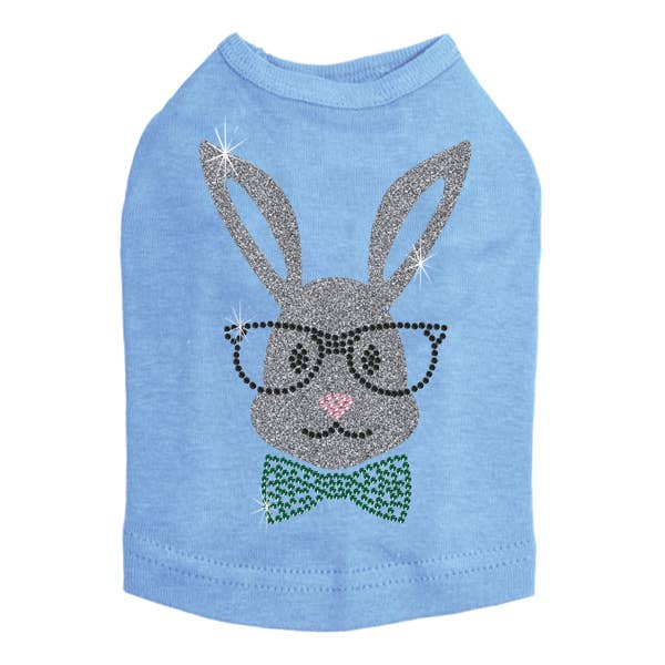 Sparkle Bunny with Glasses Dog Tee Shirt - FINAL SALE