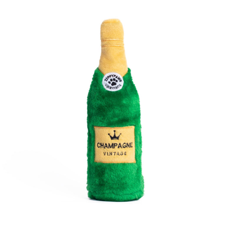Champagne Water Bottle Hiding Crusherz Dog Toy