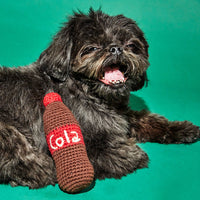 Organic Cotton Crochet Cola Bottle Dog Toy