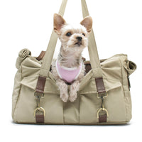 Beige Buckle Tote Pet Carrier