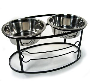 Bone Double Diner Pet Feeder
