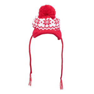 Fairisle Snowflake Dog Hat