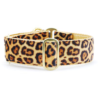 Cheetah Martingale Dog Collar
