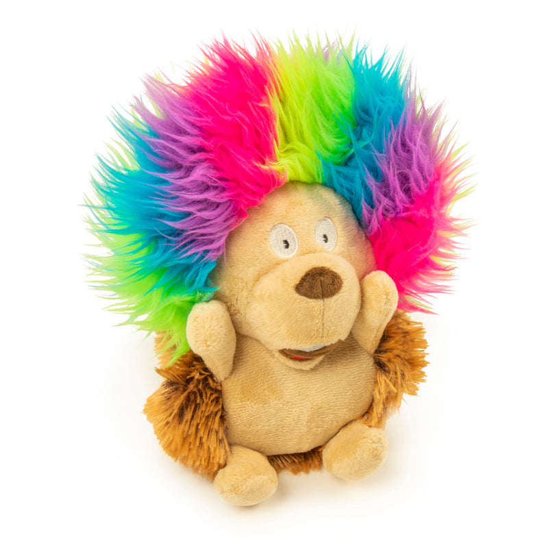 Silent Squeak Crazy Hair Hedgehog Dog Toy