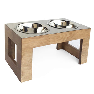 Indus Wood and Steel Double Diner Pet Feeder