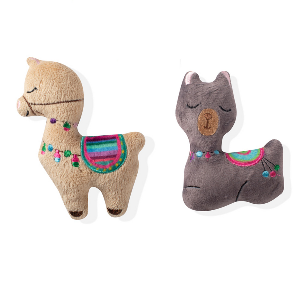 Mini Llama Plush Dog Toy