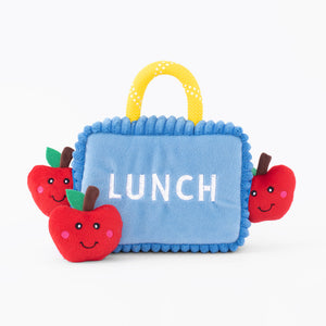Lunchbox and Apples Burrow Dog Toy