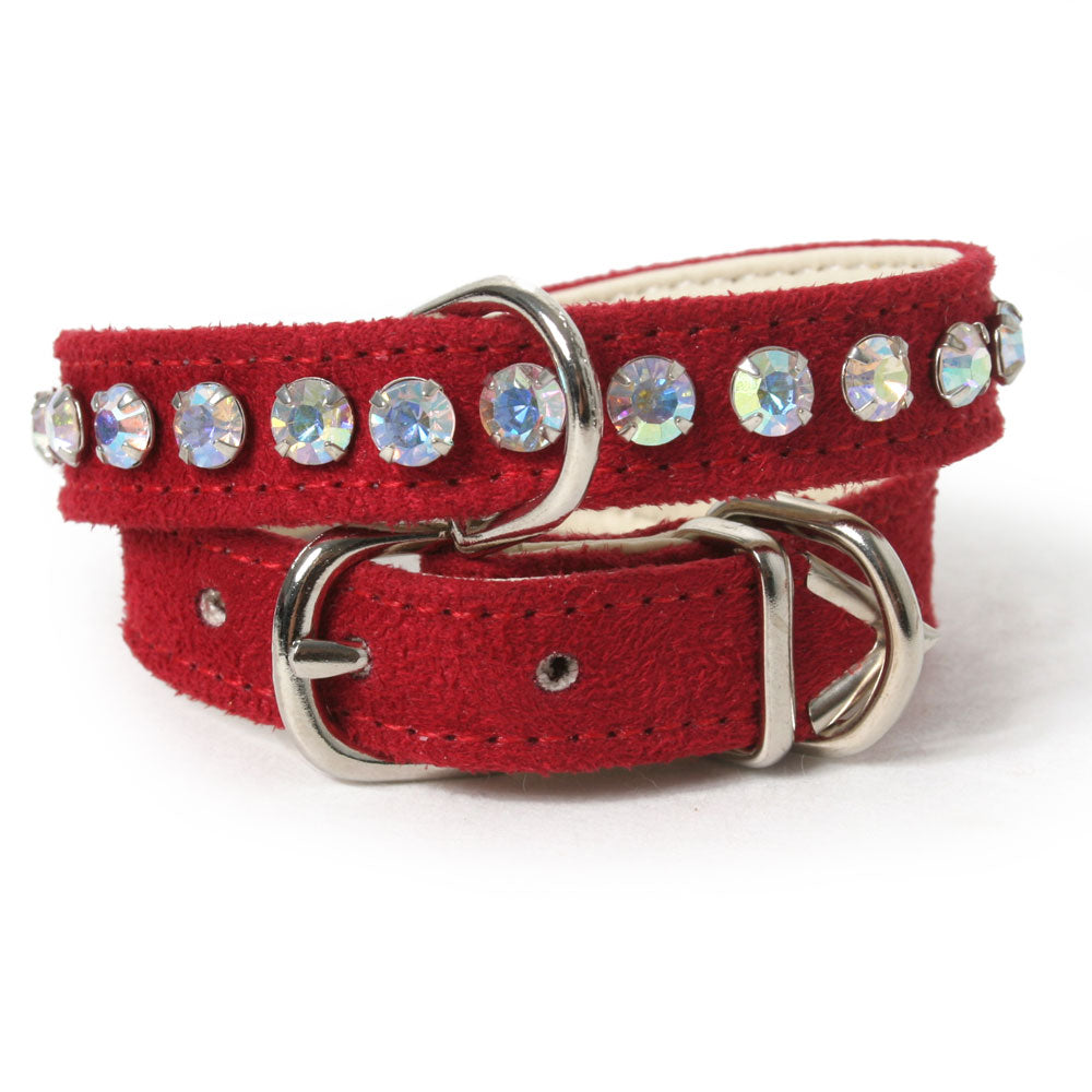 Single Row Crystal Dog Collar
