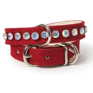 Large Single Row Crystal Dog Collar