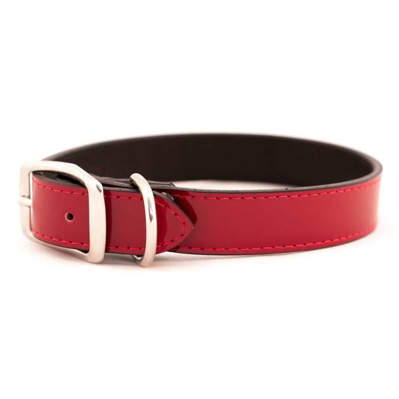 Manhattan Patent Leather Dog Collar - Muttropolis