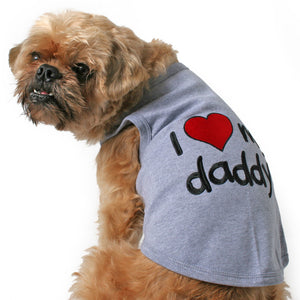 I Love My Daddy Dog Tank