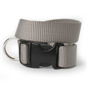 Solid Color Nylon Dog Collar