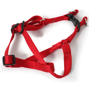 Solid Color Nylon Webbing Step In Dog Harness