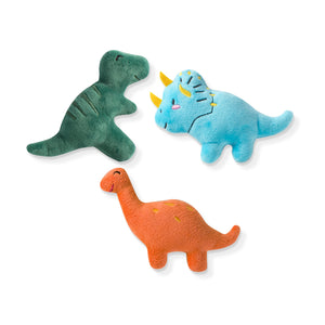 Mini Dinosaur Plush Dog Toy