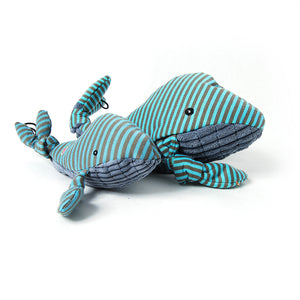 Plush Knotties Corduroy Whale Dog Toy