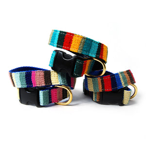 Woven Colorblock Dog Collar