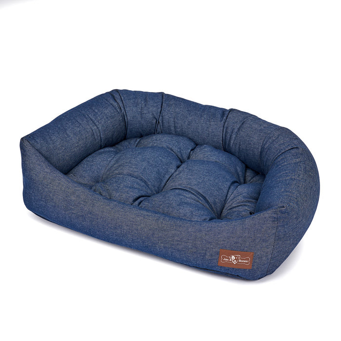 Levi Ink Canvas Napper Dog Bed