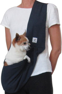 Navy Cotton Dog Sling