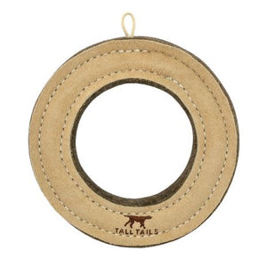 Leather Ring Dog Toy