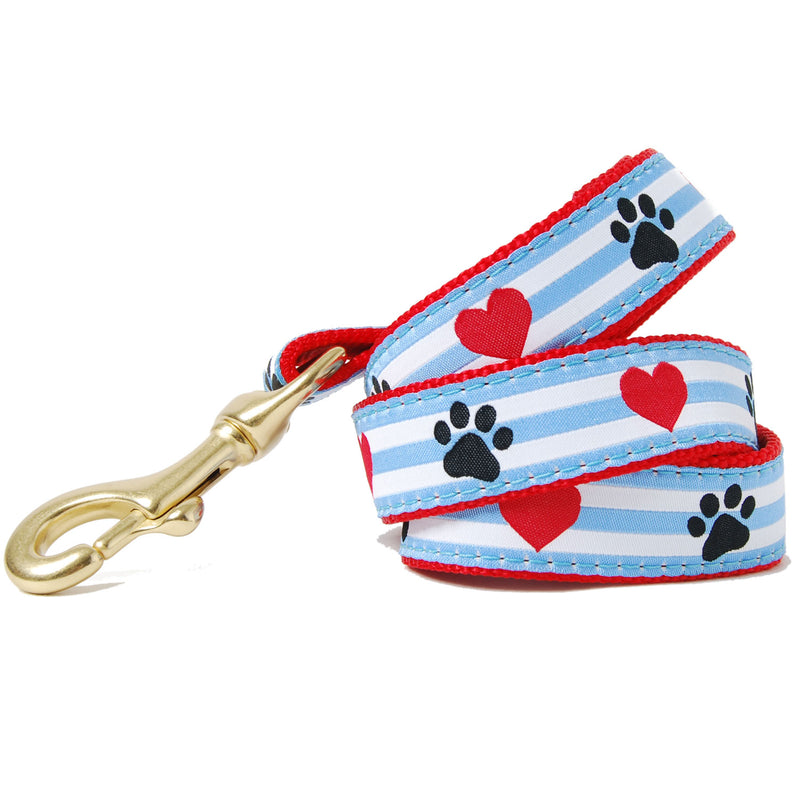 Paws and Hearts Striped Dog Leash