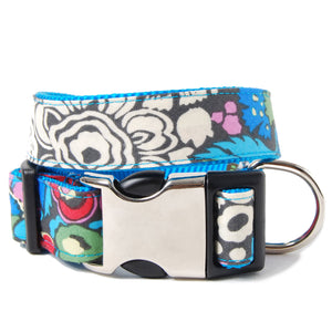 Blue Floral Alice Dog Collar