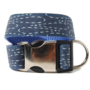 Denim Ralphie Dog Collar