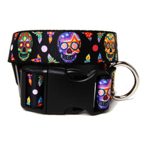 Calaveras Sugar Skull Dog Collar - Muttropolis