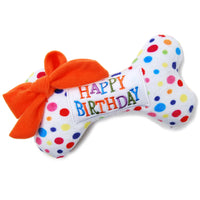 Happy Birthday Bone Dog Toy