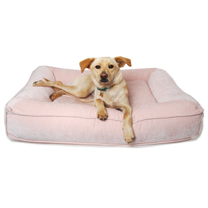 Blush Microvelvet Divine Futon Dog Bed