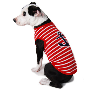 Striped Nautical Dog Tank