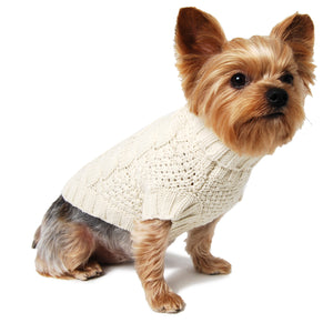 Irish Knit Dog Sweater