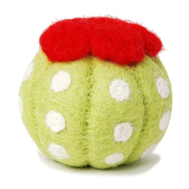 Wool Barrel Cactus Dog Toy