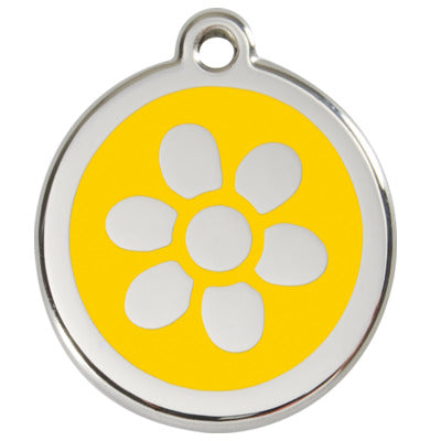 Stainless Steel Engravable Flower Pet Tag