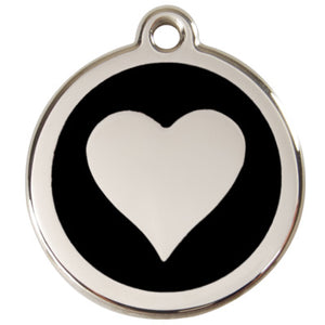 Stainless Steel Engravable Heart Pet Tag