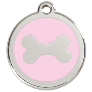 Stainless Steel Engravable Bone Pet Tag