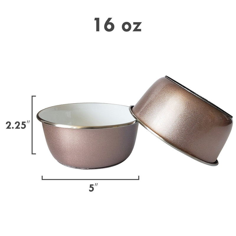 Rose Gold Pet Bowl