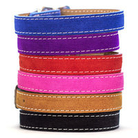 Saratoga Suede Dog Collar