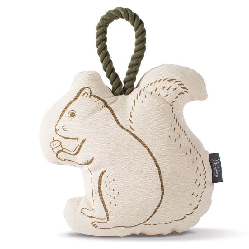 Canvas Squirrel and Rope Dog Toy