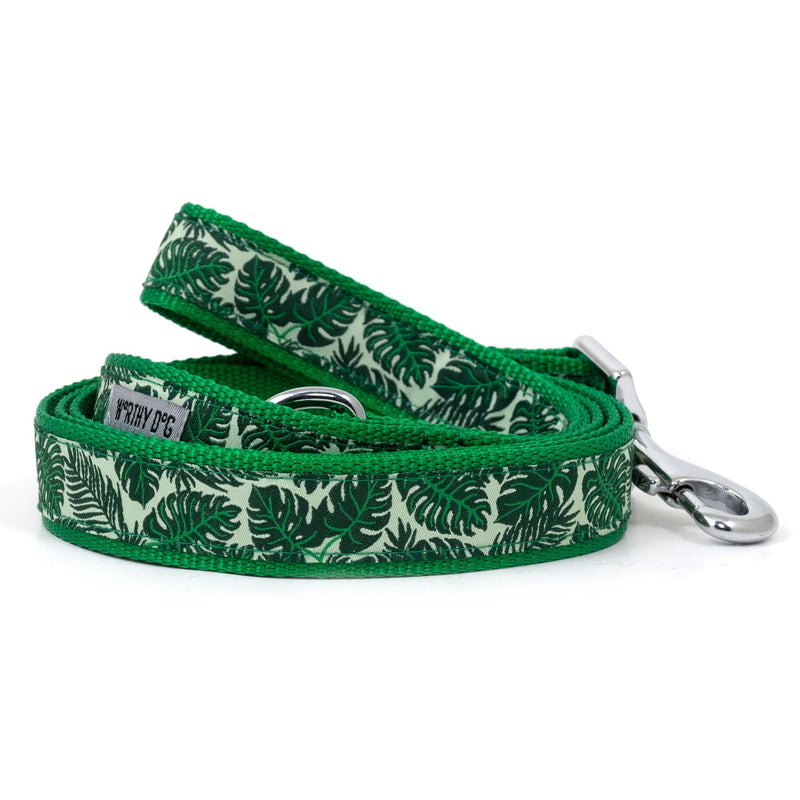 Tropical Leaves Dog Leash