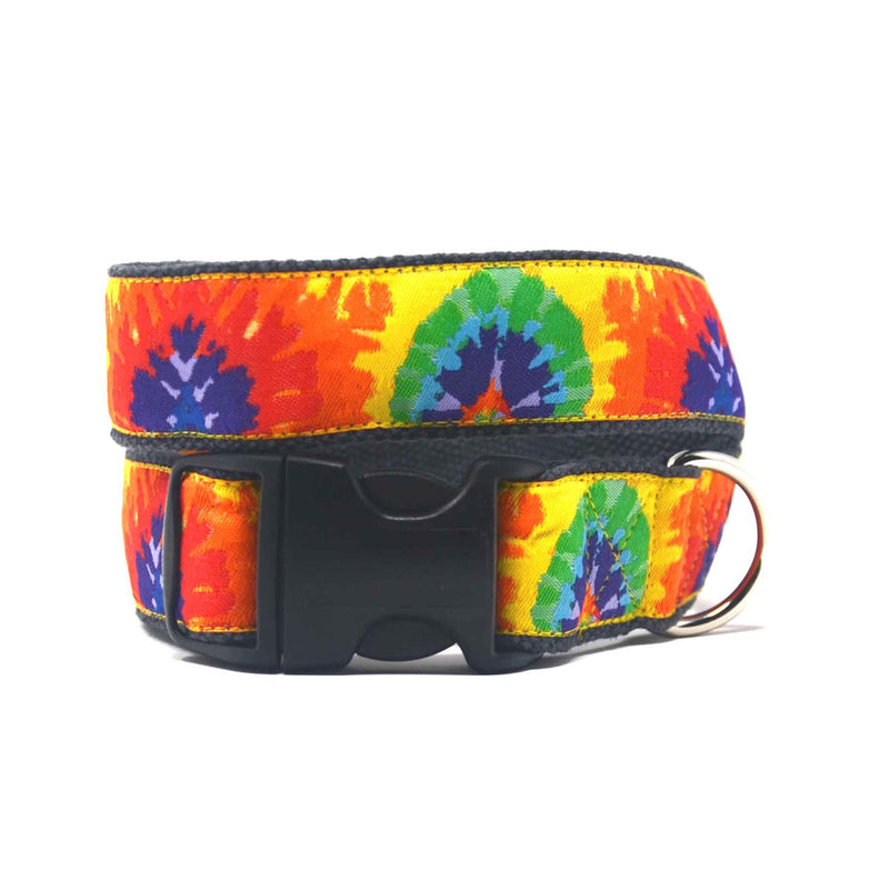 Tie Dye Hemp Dog Collar