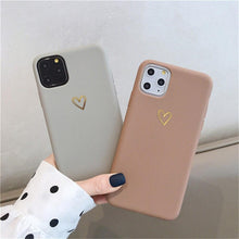Load image into Gallery viewer, Keep your phone safe and looking great with phone case from our new collection! The perfect everyday accessory, this iPhone case with heart print is both - practical and stylish
