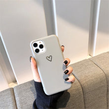 Load image into Gallery viewer, Gold Love Heart iPhone Case