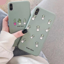 Load image into Gallery viewer, Looking for a cactus iPhone case? Get this one of a kind phone case that features the cactus highlight. Our high quality cactus inspired iPhone case
