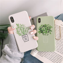 Load image into Gallery viewer, This green plant phone case captures the pure essence of simplicity, beauty and health. Our new phone case with green plant design highlights that extra bit of fresh energy in your style.